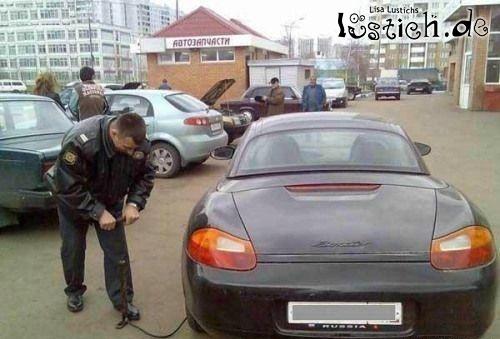 Reifen aufpumpen