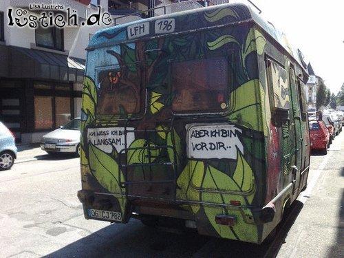 Langsamer Bus