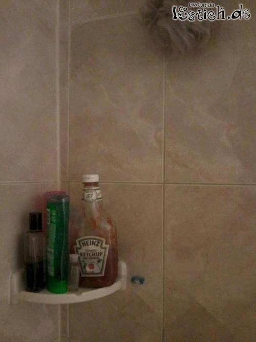 Ketchup statt Shampoo