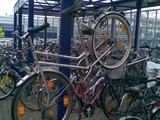 Fahrrad erhängt