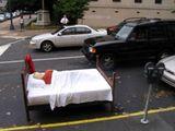 Bett geparkt