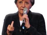 Merkel zeigt was sie denkt