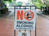 Kein Alkohol rauchen