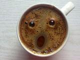 Erschrockener Kaffee