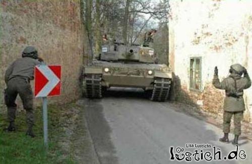Haus gegen Panzer