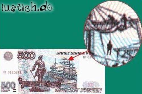 Makabrer Geldschein