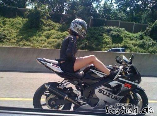Gemütliches Motorradfahren