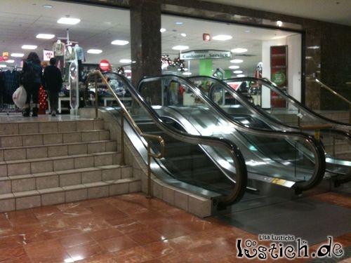 Überflüssige Rolltreppe