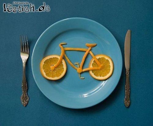 Orangenfahrrad