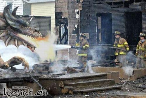 Drache vs Feuerwehr