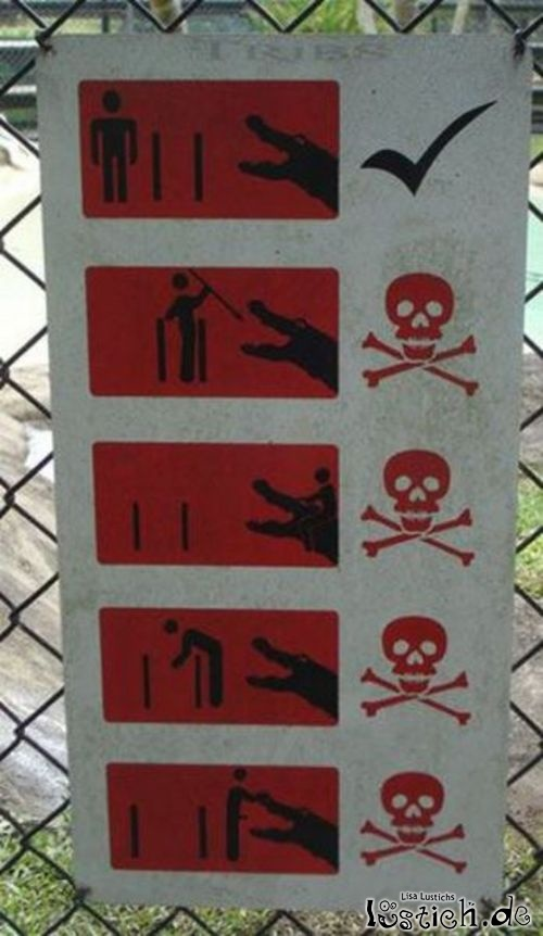 Warnung vor dem Krokodil