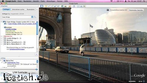 Halbes Auto in StreetView