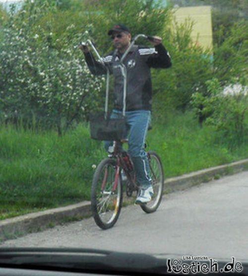 Ein Hochrad