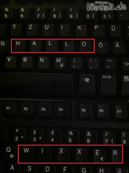 Falsche Tastatur