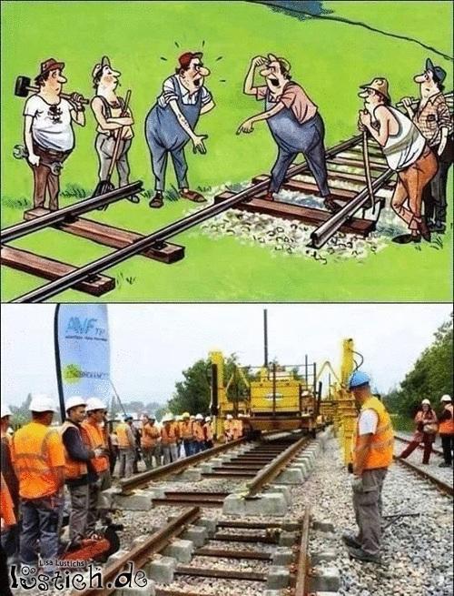 Schienen Verlegen