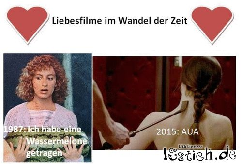 Liebesfilme im Wandel der Zeit