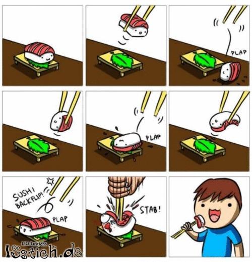 Mit Stäbchen essen