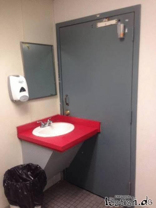 Nerviges Waschbecken