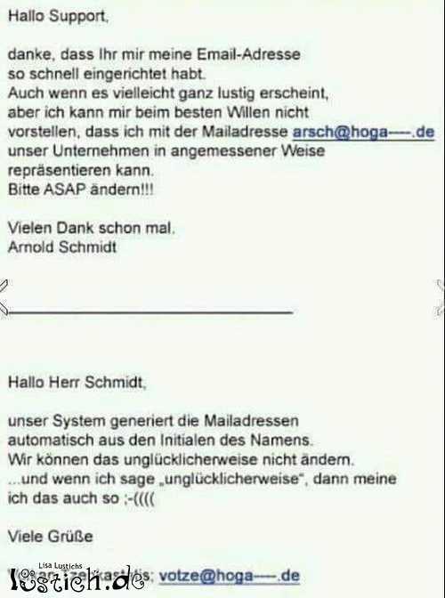 Arsch und Votze @ Unternehmensname