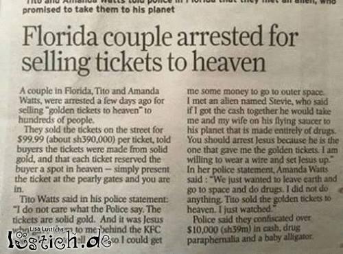 Ticket in den Himmel
