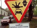Polnisches Warnschild
