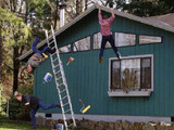 Vom Dach fallen