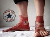 Tätowierte Schuhe
