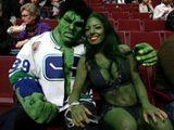 Hulk mit Freundin
