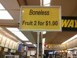 Knochenlose Früchte