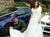 Begeisterte Braut